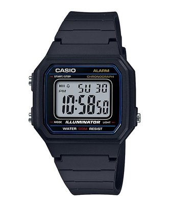 卡西歐CASIO腕錶造型大型的液晶錶面W-217H-1A W-800H W-215H 當兵/學生