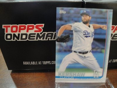 現貨 MLB 2019 TOPPS ON-DEMAND 3D 棒球 球員卡 CLAYTON KERSHAW 書僮 克蕭