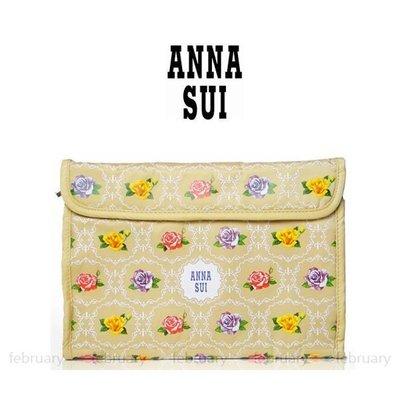 february 小舖 - [全新真品] ANNA SUI 安娜蘇 華麗薔薇收納包 盥洗包 化妝包 行李箱旅行袋必備