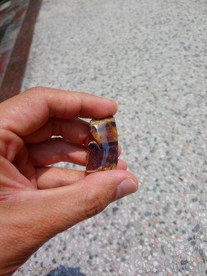 琥珀原礦-多明尼加天空藍-藍珀開窗原礦