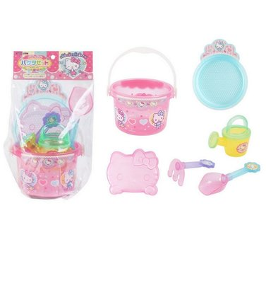 現貨附發票_日本 Hello Kitty 造型 挖沙玩具 6件組 兒童玩具 禮物【Q寶寶】