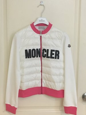 全新超美 Moncler White Down Padded Zip-Up Top 羽絨 拼接外套 14A 現貨