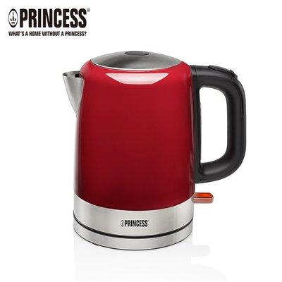 【小饅頭家電】PRINCESS 荷蘭公主 1L不鏽鋼快煮壺/紅 236000R