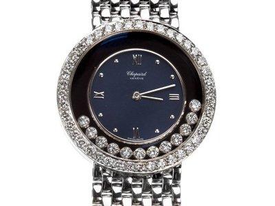 Chopard 蕭邦18K白金男用快樂鑽錶