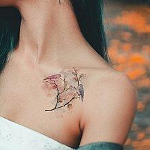 【萌古屋】玫瑰愛情鳥 - 男女防水紋身貼紙刺青貼紙FC-103 K02