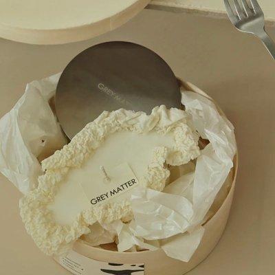 香薰蠟燭EDITOR01 x GREY MATTER滾燙的蠟燭奶油蛋糕手工香薰藝術套裝禮盒