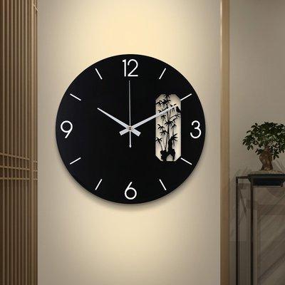 時鐘 掛鐘 鐘表掛鐘客廳現代簡約大氣家用新中式石英鐘個性創意時尚靜音時鐘