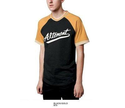 Cover Taiwan 官方直營 ALTAMONT 棒球短Tee 棒球衣 球衣 滑板 嘻哈 武當 黃色 黑色 (預購)