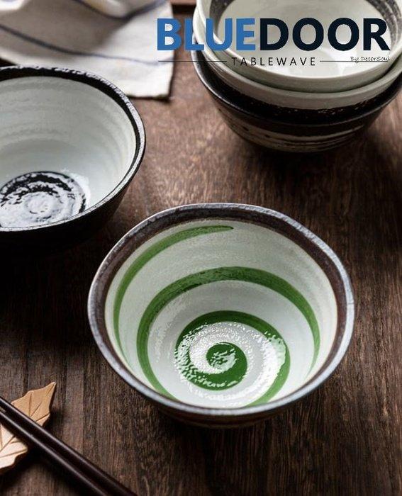 BlueD_ 日式碗 水墨風 4.5吋 240ML 磨砂 湯碗 飯碗 陶瓷碗 中式 手繪中國風創意設計裝潢 新居入遷送禮