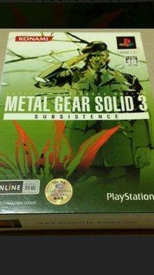 PS2( 近全新)潛龍諜影3求生戰(日版)