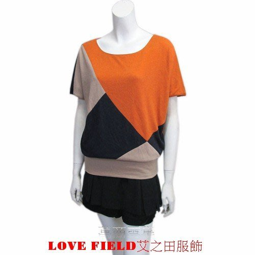 [萬商雲集] 全新秋商品LOVE FIELD艾之田服飾拼接帥氣蝴蝶飛鼠袖針織上衣