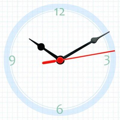 【鐘點站】塑膠鐘針/ 分針7.8公分 時針5公分/ SUN機芯 專用指針_塑膠材質(T075050)/ 小朋友DIY指針