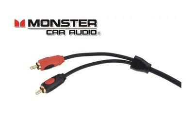 現貨美國Monster Cable M100I怪獸5米無氧銅發燒線雙RCA音頻線信號線訊號線
