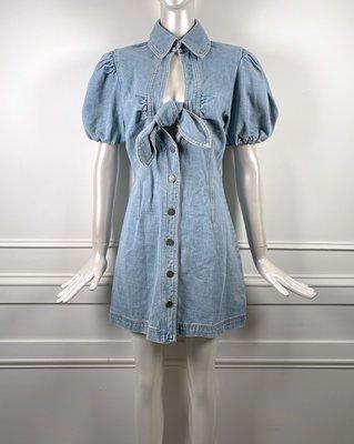 [我是寶琪] C/MEO Comparison 單寧蝴蝶結洋裝