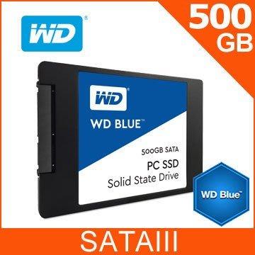 【捷修電腦。士林】全新盒裝 WD 藍標 BLUE 500GB 2.5吋 SATAIII SSD 抗漲首選 $4599