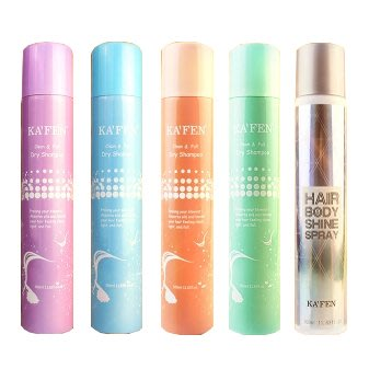 KAFEN - 蓬鬆乾洗髮噴霧 - 300ML(無香味/香檳玫瑰/小蒼蘭/牡丹/保溼)