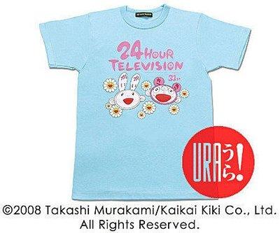 【URA 全新】村上隆 × NTV 24 HOUR TELEVISION 短T ~ ARASHI 藍/粉紅