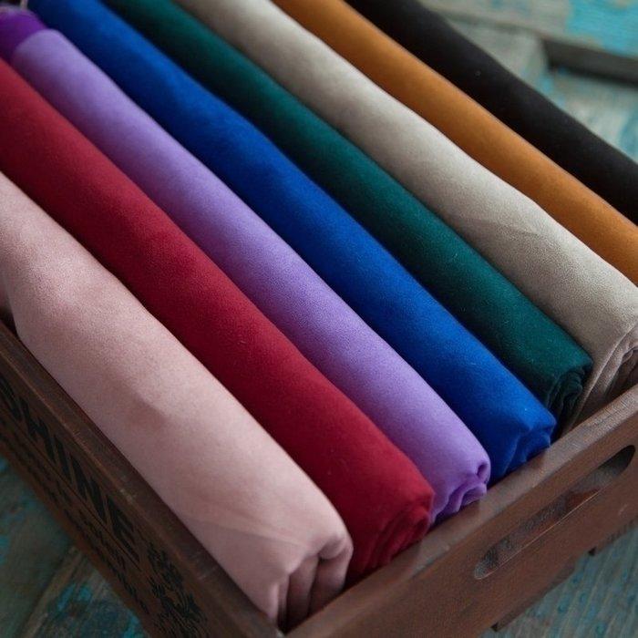 布料 面料【唐兔兔】 加密仿麂皮絨布服裝面料柔軟手工布藝DIY布料 薄款台北百貨