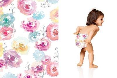 【美國預購】The Honest 環保 有機 無毒 嬰兒尿布 -玫瑰花