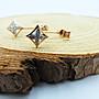 %玉承珠寶%輕珠寶系列~14k玫瑰金天然鑽石幾何圖形後勾式兩用耳環DE11
