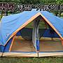 豪華版 5- 8人兩房雙層戶外露營速開 自動帳篷...