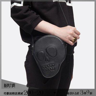 韓風專櫃飾品BLACKHEAD黑頭/設計師潮牌黑色個性骷髏單肩包手拿包斜挎包夸張潮