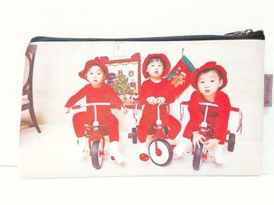 韓國綜藝節目【我的超人爸爸】宋一國三胞胎 ~大韓民國萬歲 【寫真圖款】 長型 / 扁型 化妝包整理包筆袋