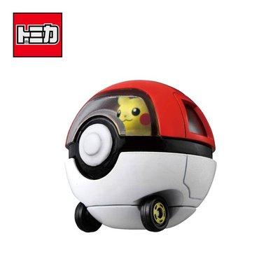 TOMICA 騎乘系列 R10 皮卡丘 x 寶貝球車 寶可夢 玩具車 多美小汽車 日本正版【119432】