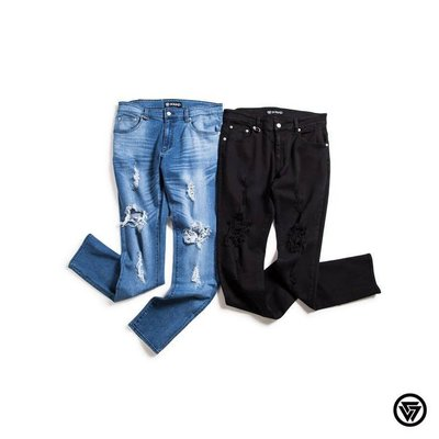 (MARVELOUS) SQUAD 2016 S/S 彈性破膝牛仔長褲 Elasticity Broken Jeans