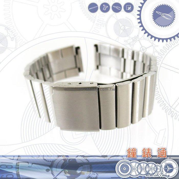 【鐘錶通】板折帶 金屬錶帶 B 35S17- 17mm