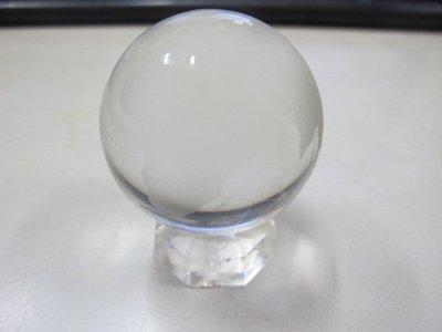 二手舖 NO.1820 透明水晶玻璃 地球 世界地圖  桌上擺飾