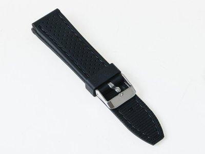 透氣矽膠運動錶帶 手錶錶帶 – 黑色線...