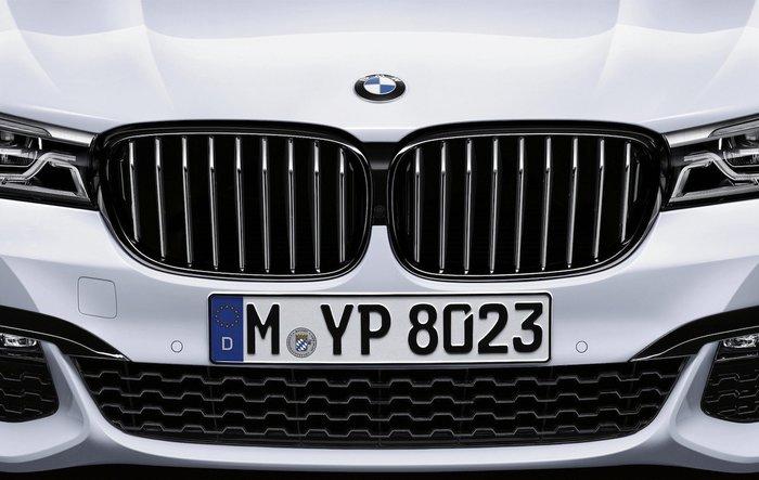【樂駒】BMW G11 G12 M Performance 原廠 高亮黑 水箱罩  黑鼻頭 改裝 空力 套件 精品