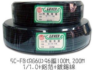 同軸電纜 RG6U 96編 75抗阻 RG58A/U 112編 50抗阻電源線 監視器線材 ~ 萬能百貨