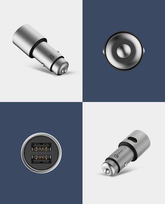 全新小米車載充電器快充版蘋果安卓通用多功能智慧車充電器 k69
