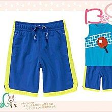 【B& G童裝】正品美國進口GYMBOREE Pull-On Active螢光黃邊藍色動短褲6號5-6yrs