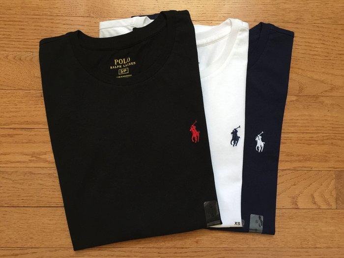 【Polo Ralph Lauren】RL 基本款 圓領素面短袖T恤 刺繡小馬 純棉 素面/條紋短t 女生 女裝大人