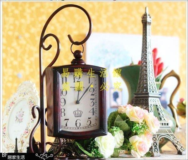 [王哥廠家直销]復古時鐘 桌鐘 靜音鐘 鑄鐵 zakka 雜貨 造型 歐式 民宿 店面 酒吧 咖啡廳 拍攝道具LeGou_