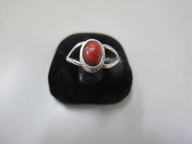 二手鋪 NO.3061 天然紅珊瑚 純銀925 珊瑚戒指 首飾飾品
