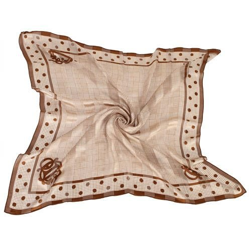 【姊只賣真貨】Christian Dior 時尚細格點點邊框大絲巾(紅/咖啡色)送禮禮物自用皆可