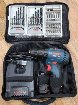 【欣瑋】 含稅 德國 BOSCH GSB 12V-30 無刷 震動電鑽 12V 電鑽 雙2.0Ah 夾頭式 組合套裝 附配件