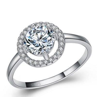 925純銀戒指 鑲鑽銀飾-浪漫求婚情人節生日禮物女配件73an17[獨家進口][米蘭精品]