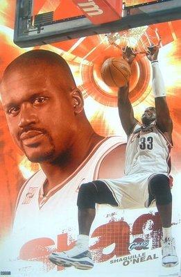NBA騎士歐尼爾Shaquille O Neal Cavalier 原版海報