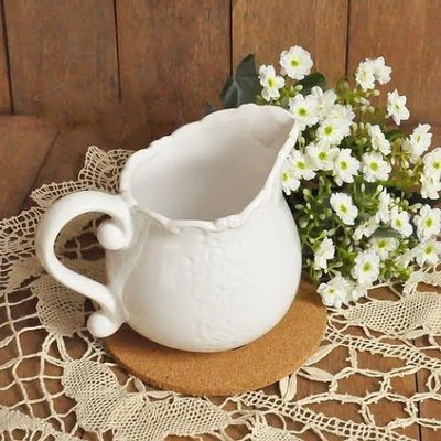 ~蘇菲亞精品傢飾~法式Zakka雜貨風巴洛克復古浮雕牛奶杯/調味杯/奶盅/小茶匙叉子收納