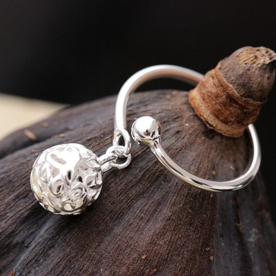 【Lin】925純銀戒指 防過敏手工銀食指環 開口女戒子