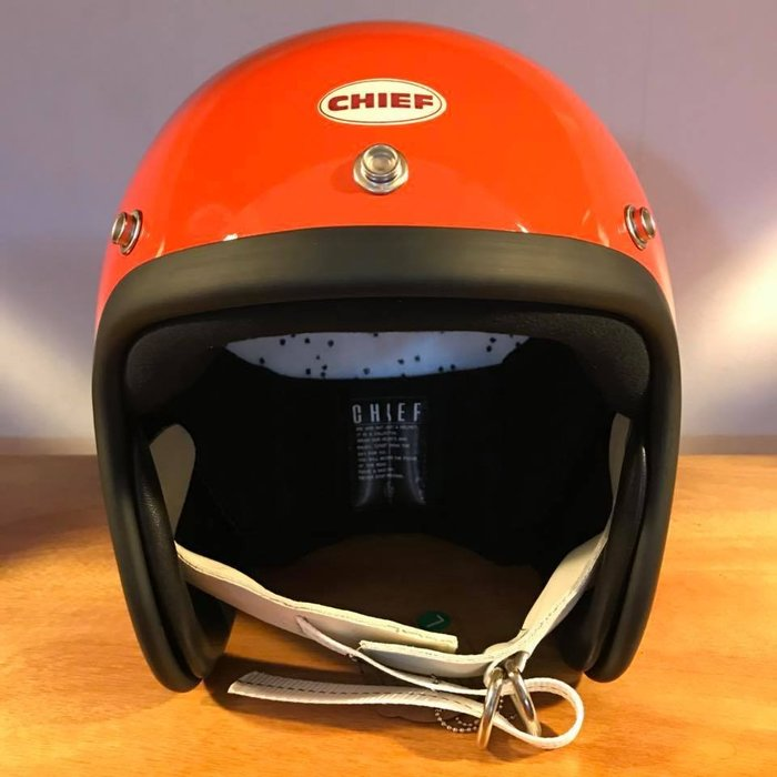 (I LOVE樂多) Chief Helmet TX500 3/4 小帽體安全帽 橘色 喜愛BELL BUCO 可參考
