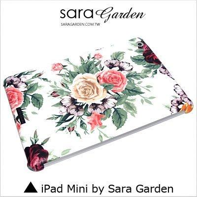 iPad Mini 1 2 3 4 客製化 保護殼 水彩 玫瑰花 碎花【G098】