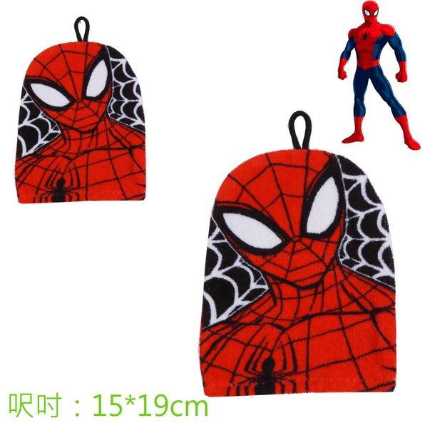 出口美國SPIDER MAN蜘蛛人紅底蜘蛛網款洗澡手套(15*19cm)特價99元/個