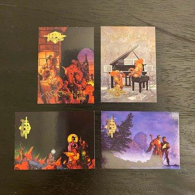 1994 Don Maitz 美國科幻藝術家 親筆簽名 收藏卡 卡片 共4張 #382/1000  #309/1000