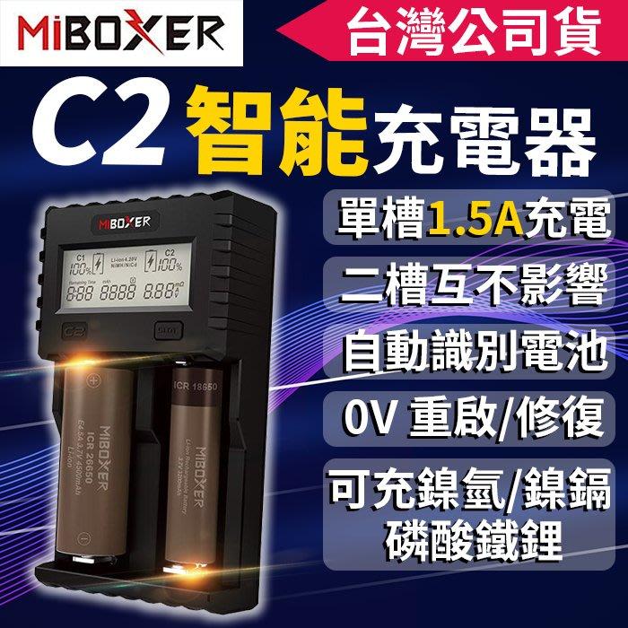 【傻瓜批發】MiBOXER C2-3000 1.5A*2 快充充電器-電池修復/內阻測量/18650鋰電池/鎳氫/磷酸鋰